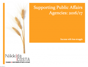 Public Affairs agency training
